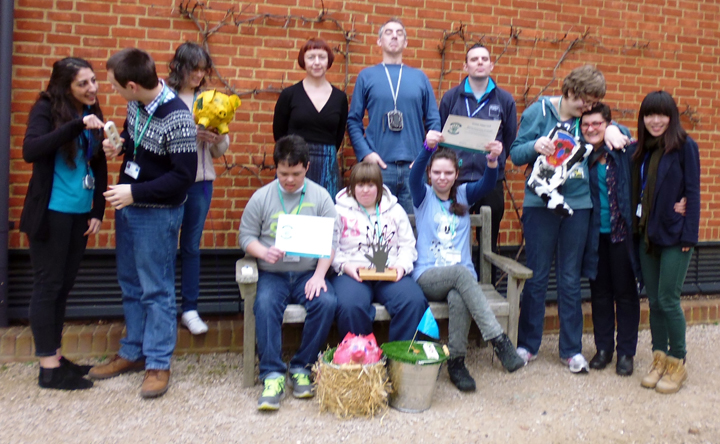 Sensory Objects Researchers, Reading College Students and Staff with Design Award