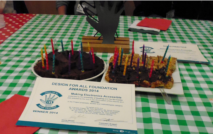 To celebrate our award we made cakes
