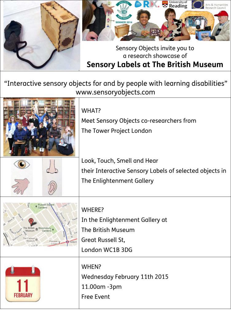 Event invite BRITISH MUSEUM Easy Read