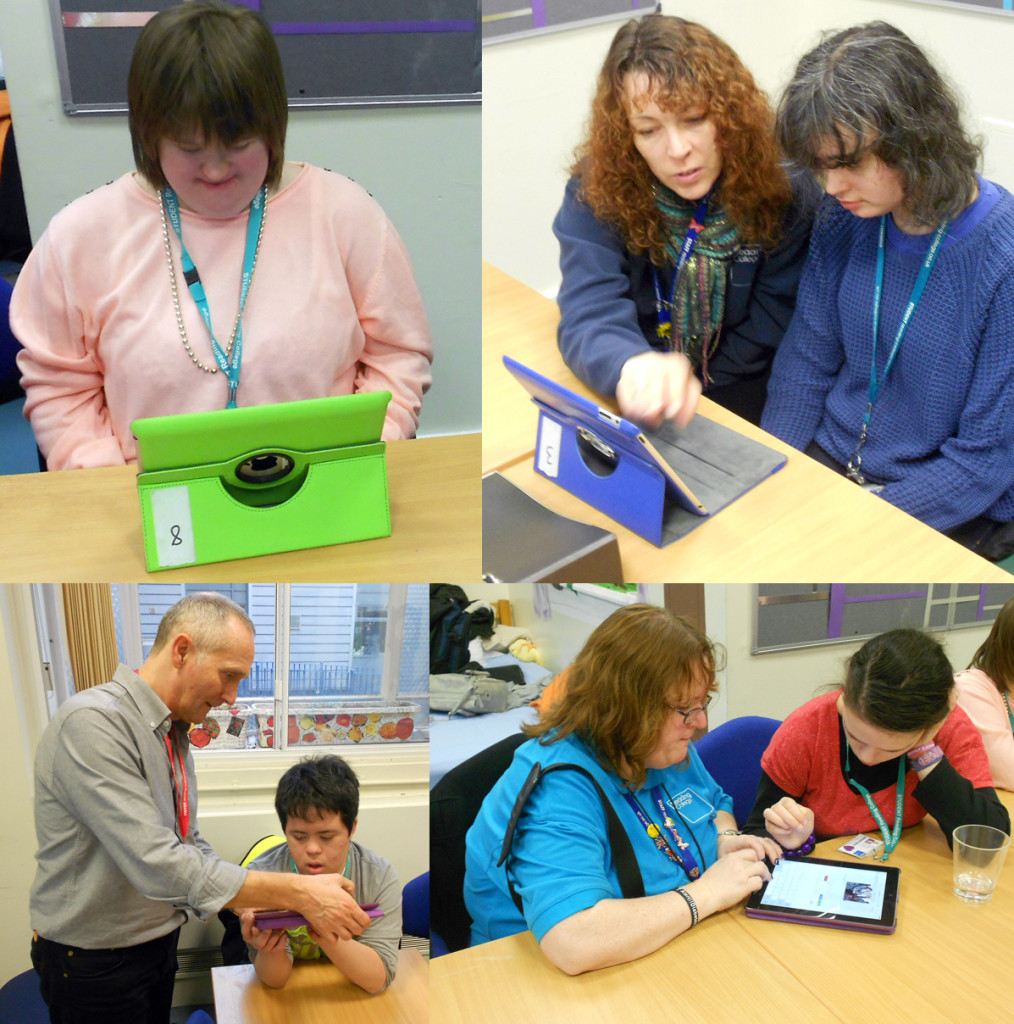 Group using ipad