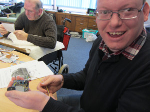 Chris hooks up his Arduino