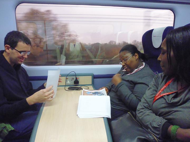Preparatory Work on Train