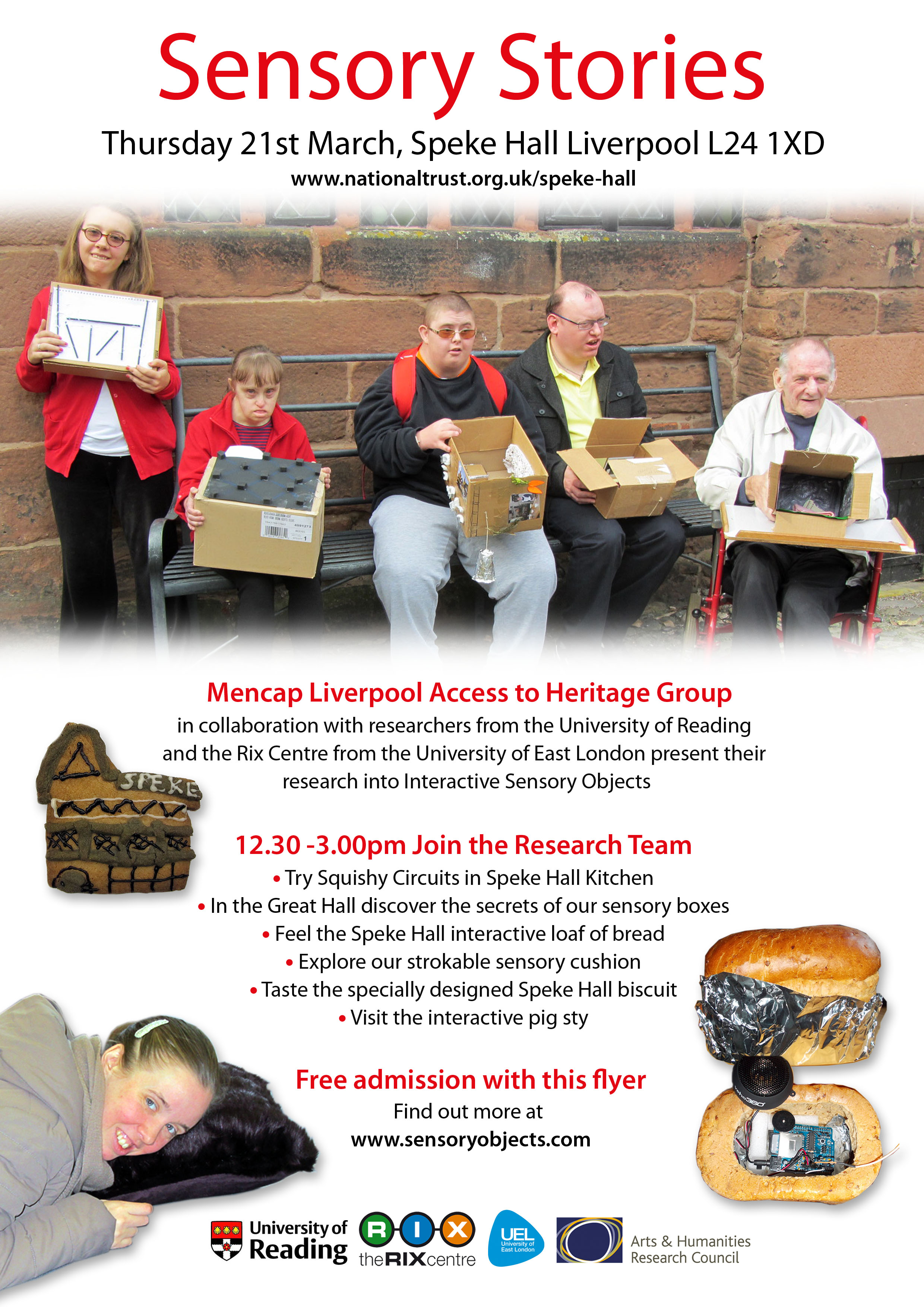 Sensory Objects flyer 21st March