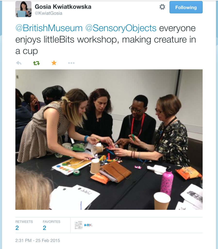 Tweet of creature in cup workshop