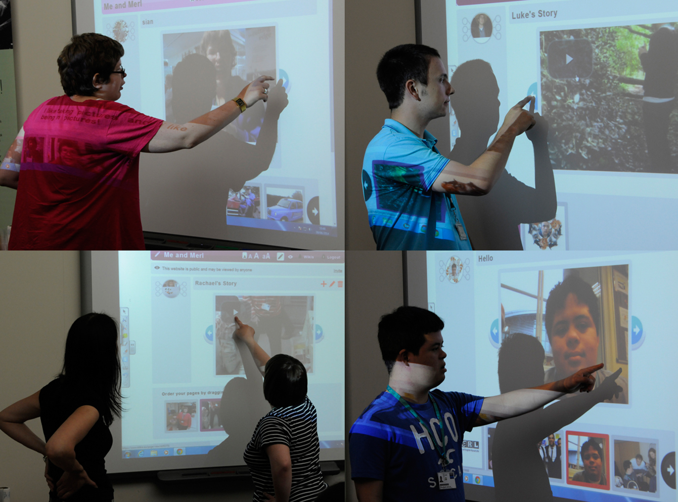 Co-researchers Wikis on smart board