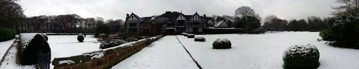 Snow at Speke Hall by Terry